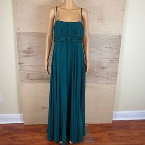 David's Bridal Hunter Green Dress Size 12